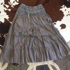 Boho chic cotton maxi skirt